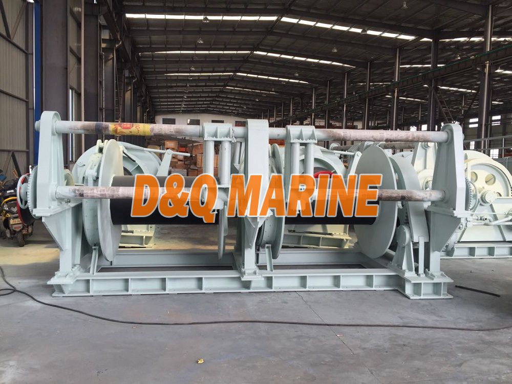 Hydraulic Double Drums Mooring Winch with 200kn pull