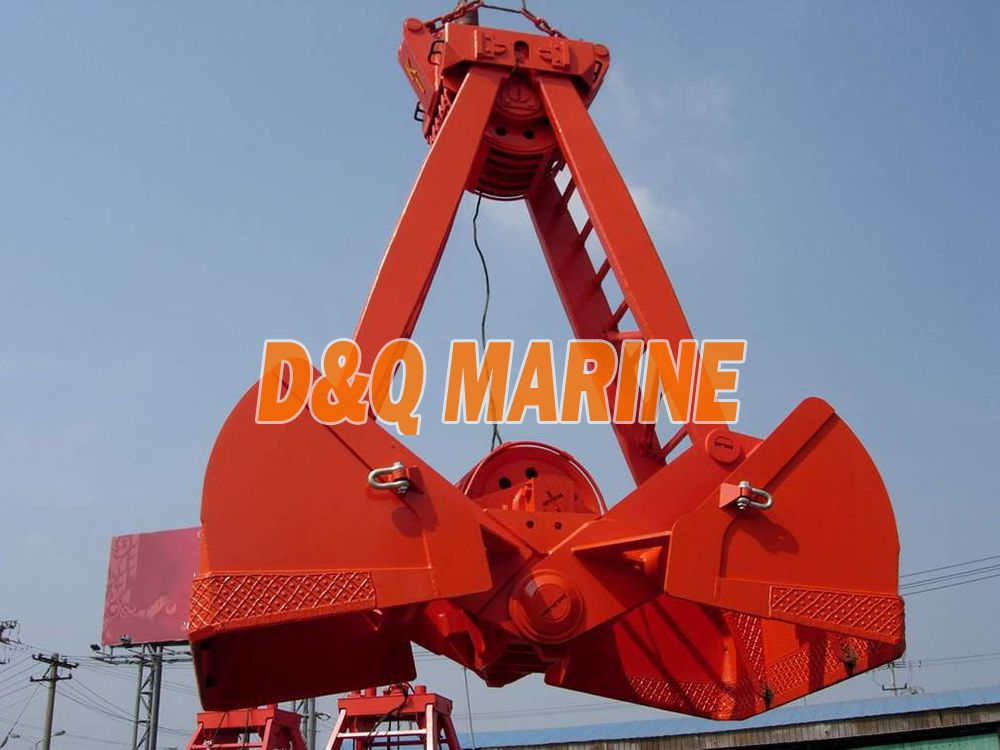 Four Rope Prevent Leakage Double Disc Grab Bucket