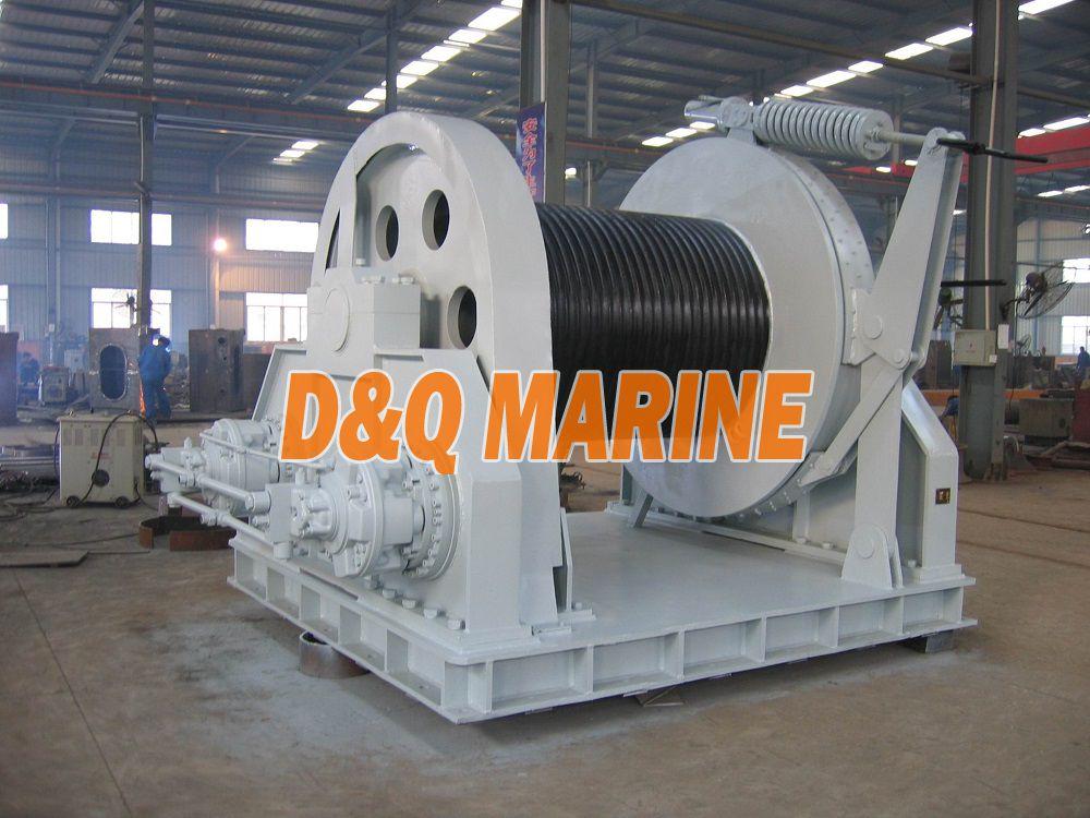 Heavy duty hydraulic offshore winch
