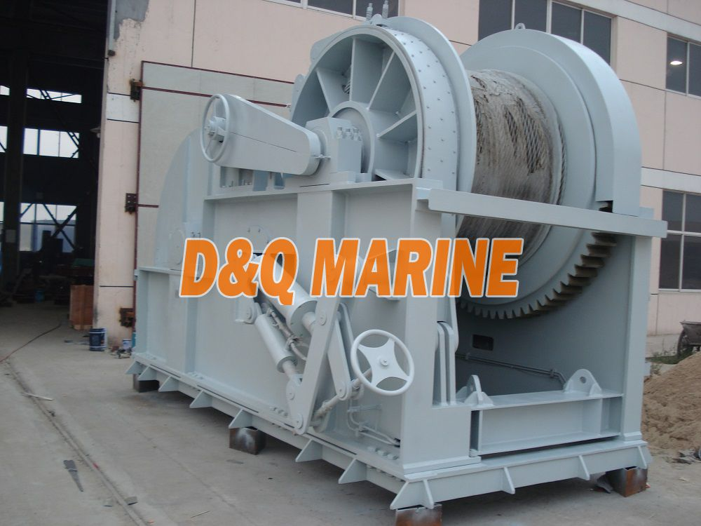 Hydraulic mooring winch with 1000kn pull