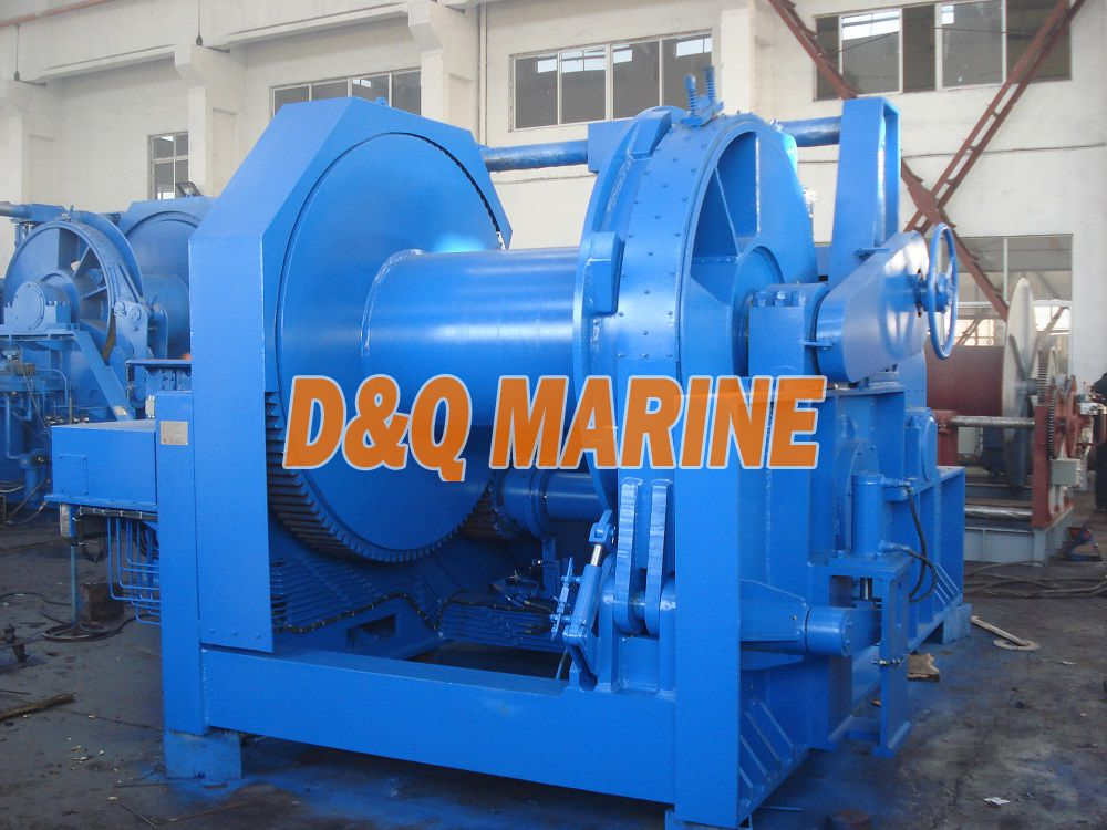 Hydraulic winch with 500kn pull for anchor handling