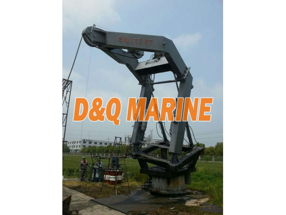Launching davit for fast rescue boat