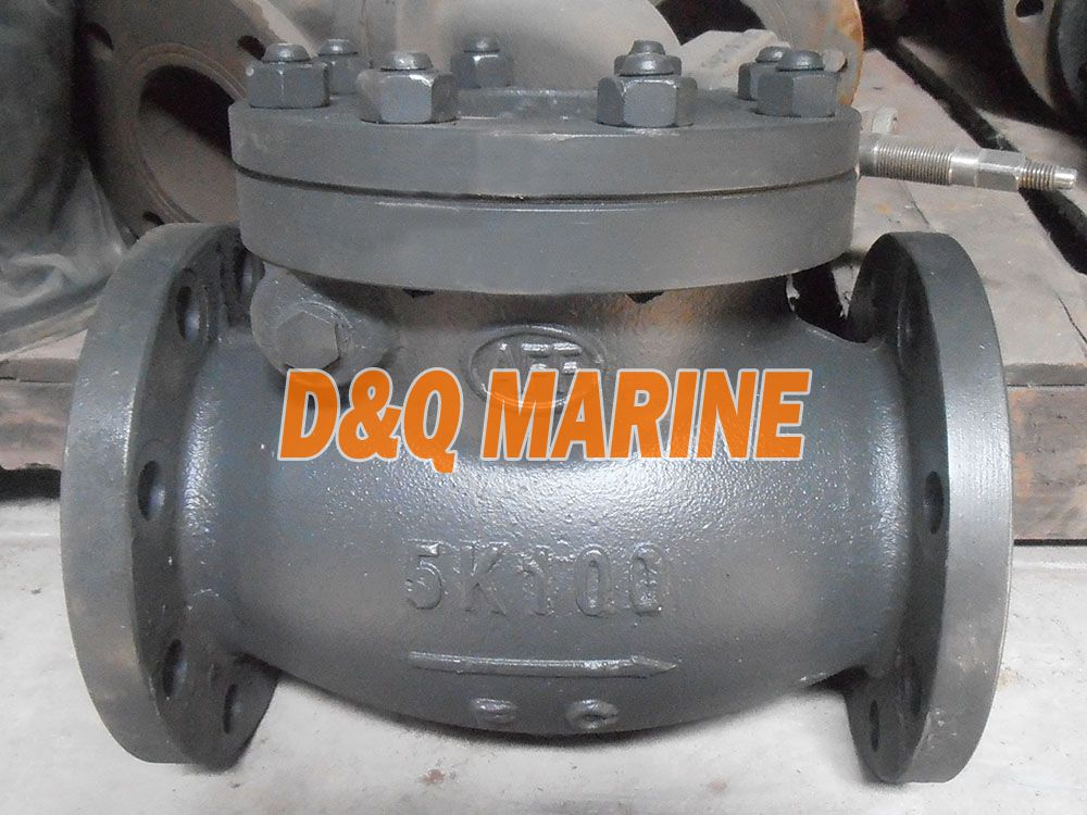 Marine Cast Iron 5K Swing Check Valve JIS F7372