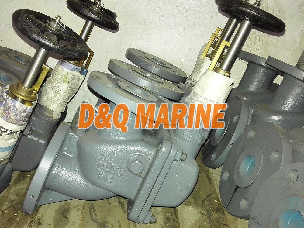Marine Cast Steel 10K Angle Storm Valve