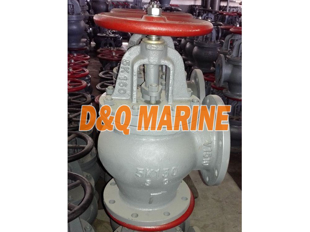 Marine Cast Steel 5K Screw Down Check Angle Valve JIS F7312C