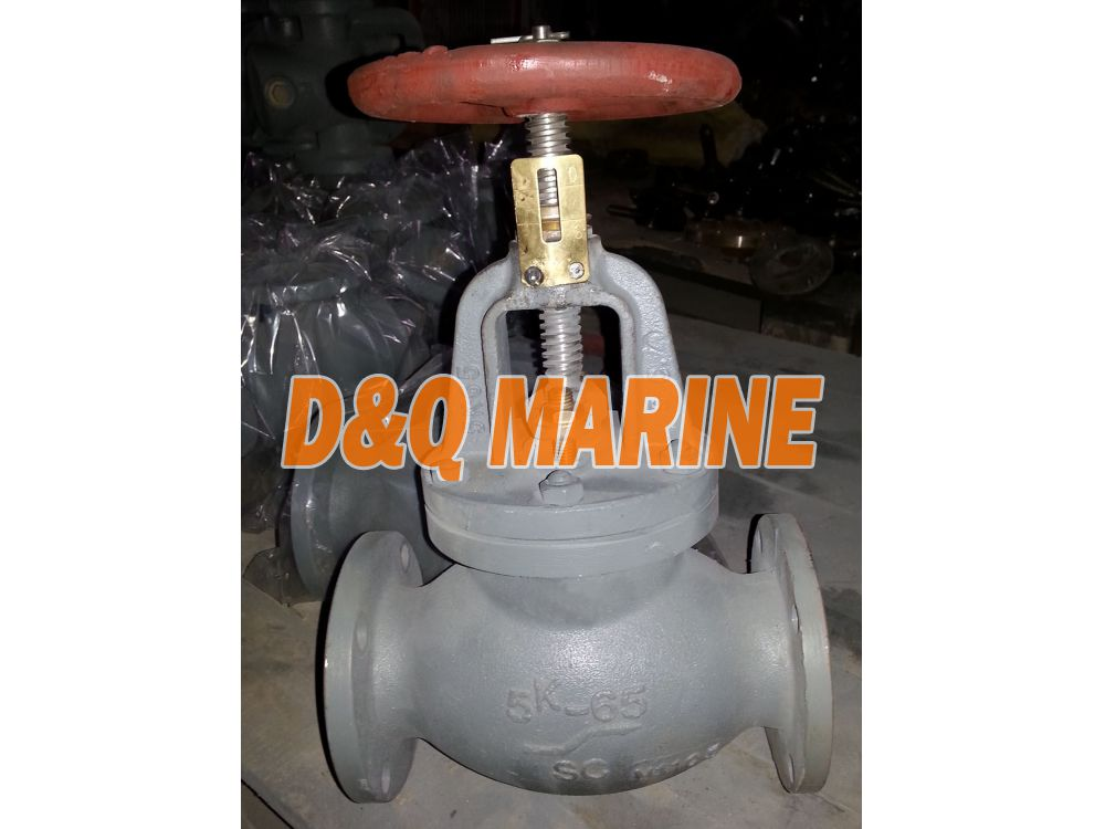 Marine Cast Steel 5K Screw Down Check Globe Valve JIS F7311C