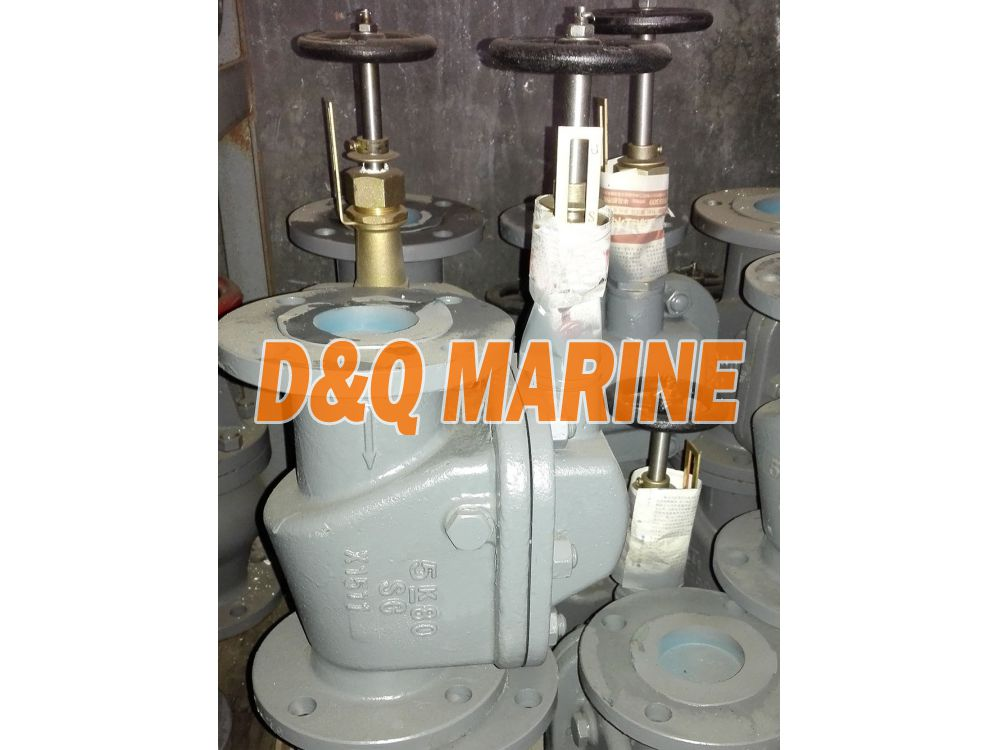 Marine Cast Steel 5K Screw Down Vertical Storm Valve JIS F3060