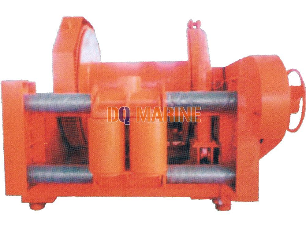 100T Waterfall type double drums hydraulic winch
