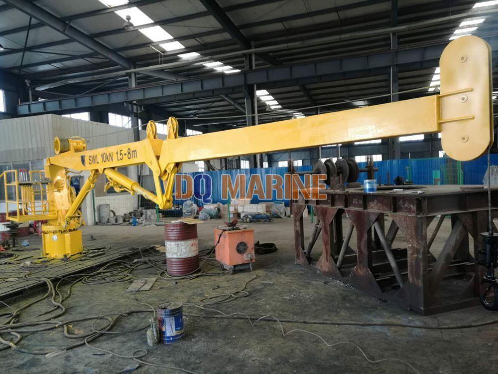 1T Hydraulic knuckle jib crane