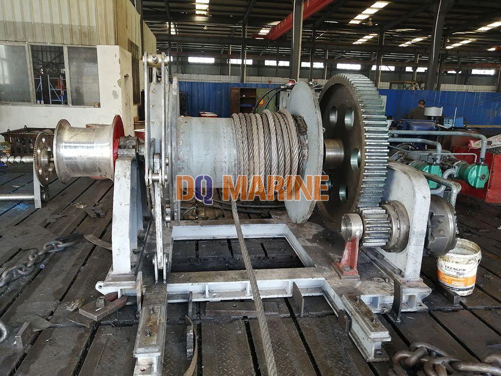 35T Hydraulic diesel engine driven mooring winch