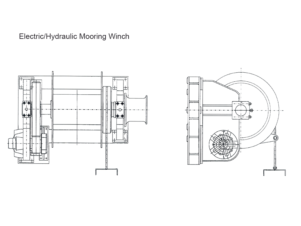 300KN Electric Mooring Winch
