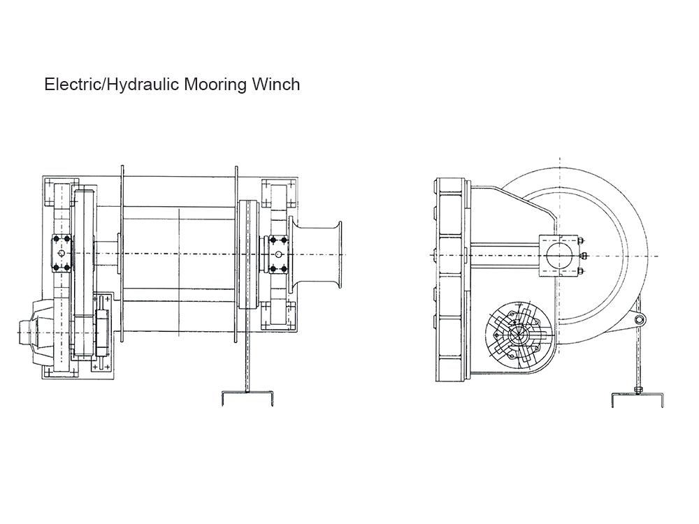240KN Hydraulic Mooring Winch