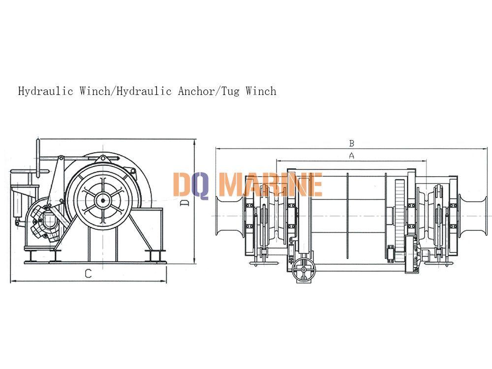 80Kn Hydraulic Tug Winch