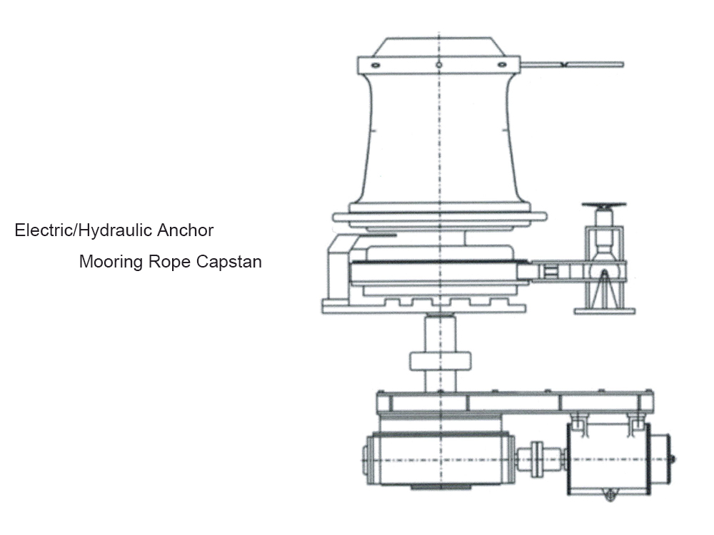 75KN Electric Anchor Mooring Rope Capstan