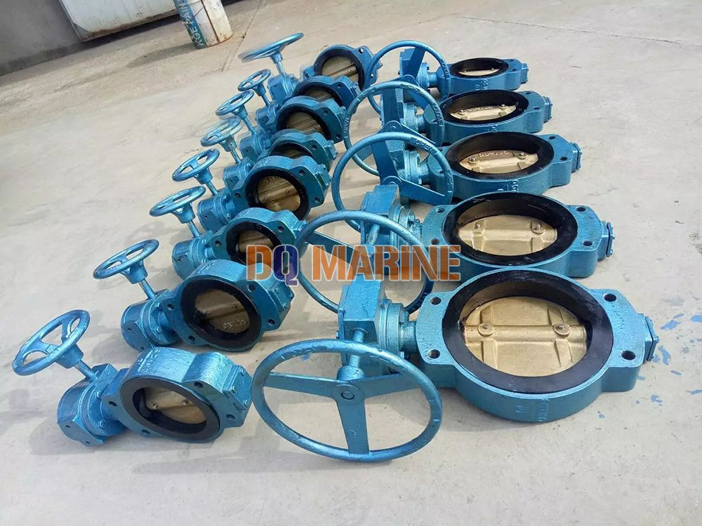 Marine Center Worm Manual Wafer Butterfly Valve