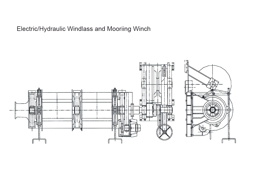 100KN Electric Mooring Winch