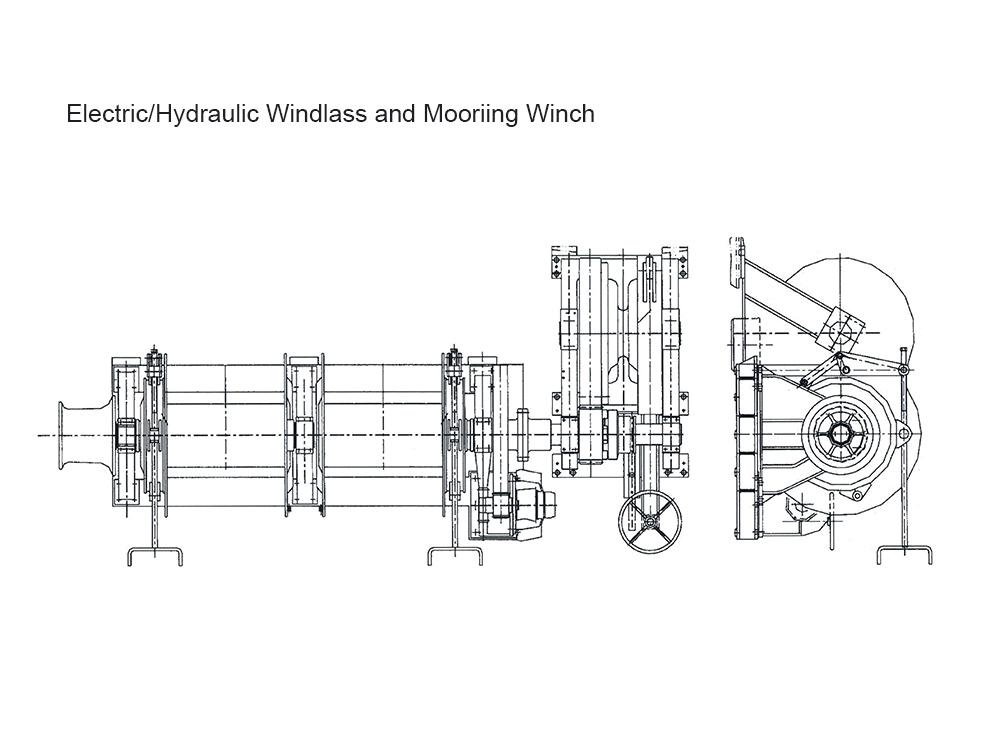125KN Hydraulic Mooring Winch
