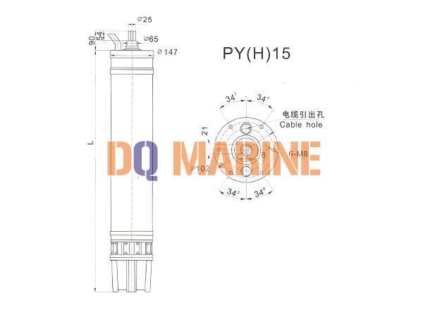 PY(H)15 Series water(seawater) submersible electric motors