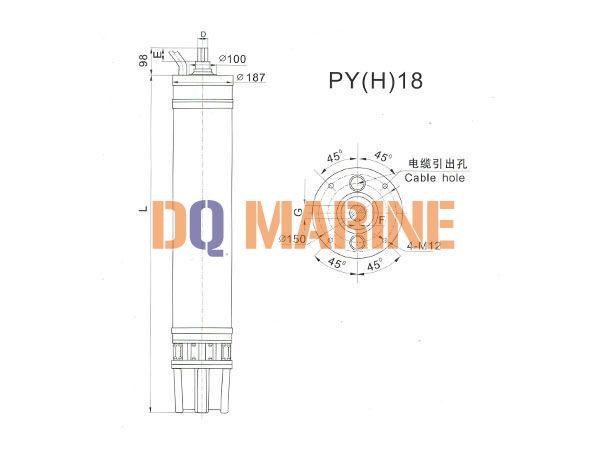 PY(H)18 Series water(seawater) submersible electric motors