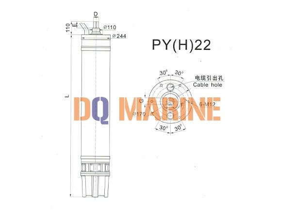 PY(H)22 Series water(seawater) submersible electric motors