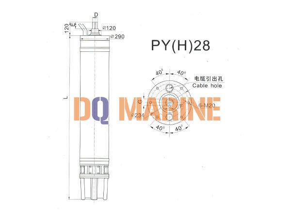 PY(H)28 Series water(seawater) submersible electric motors