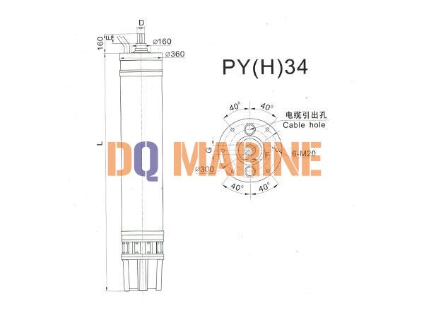 PY(H)34 Series water(seawater) submersible electric motors