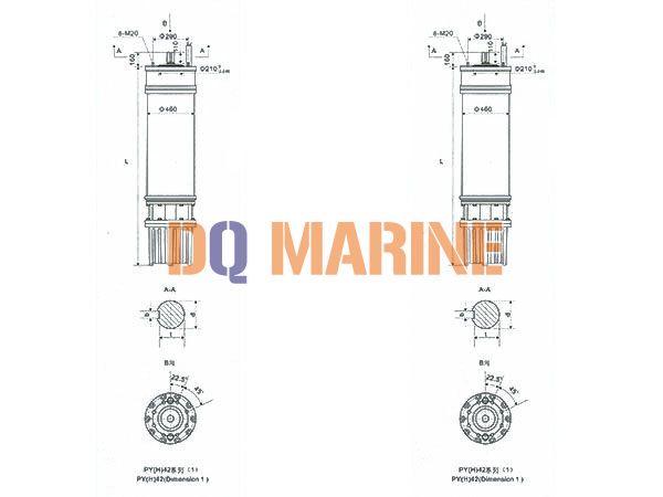 PY(H)42 Series water(seawater) submersible electric motors