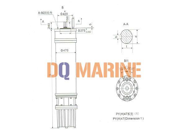 PY(H)47 Series water(seawater) submersible electric motors