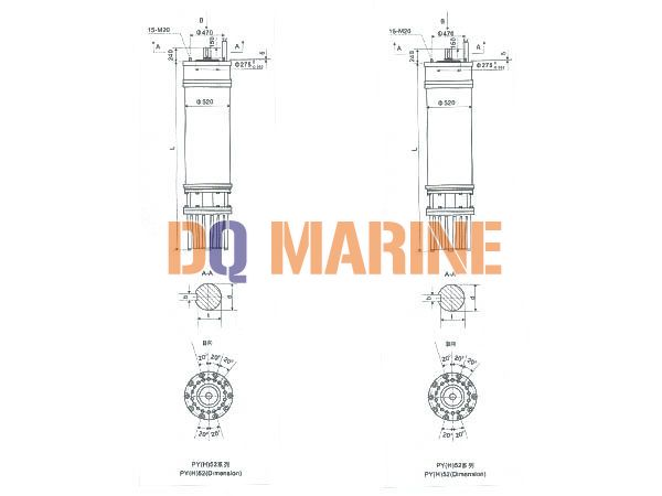 PY(H)52 Series water(seawater) submersible electric motors