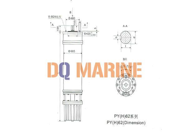 PY(H)62 Series water(seawater) submersible electric motors