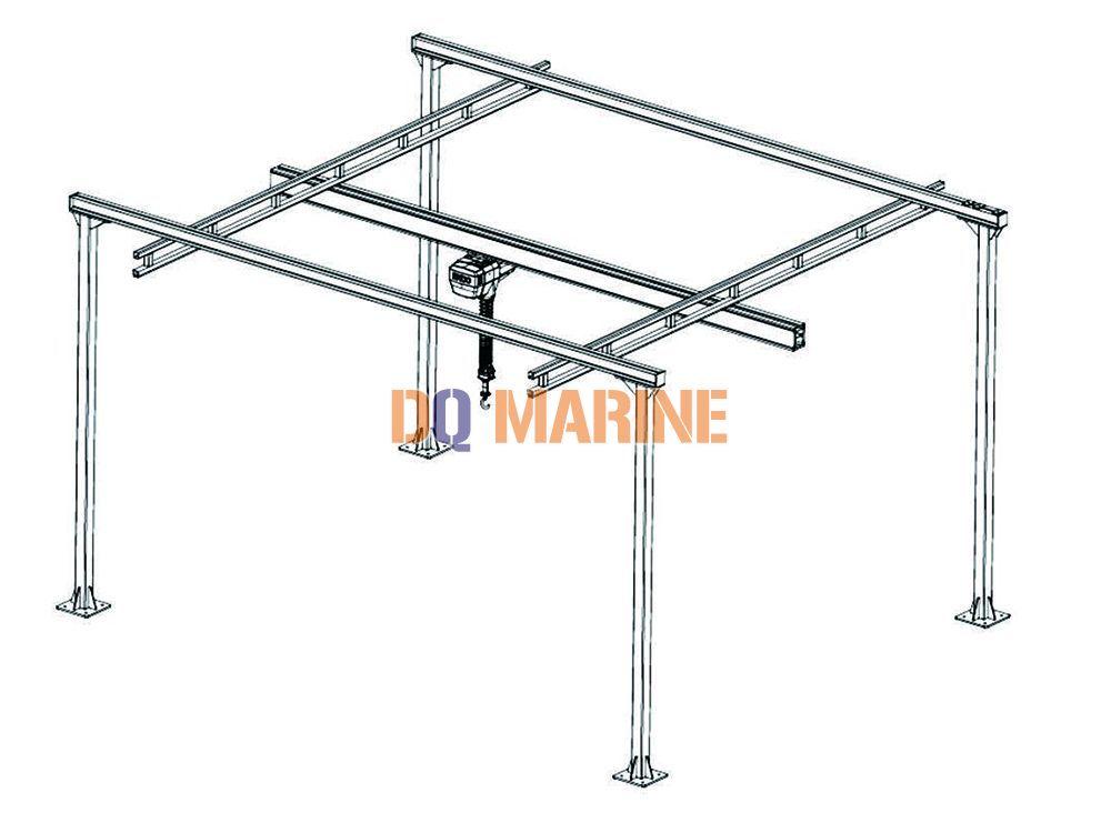 Self-standing combination crane