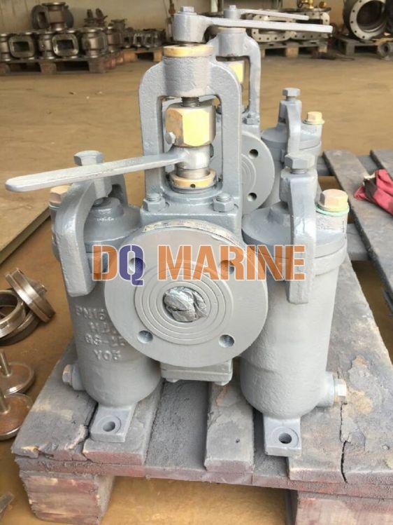 Shipbuilding Duplex Oil Strainer JIS F7208 HS Type