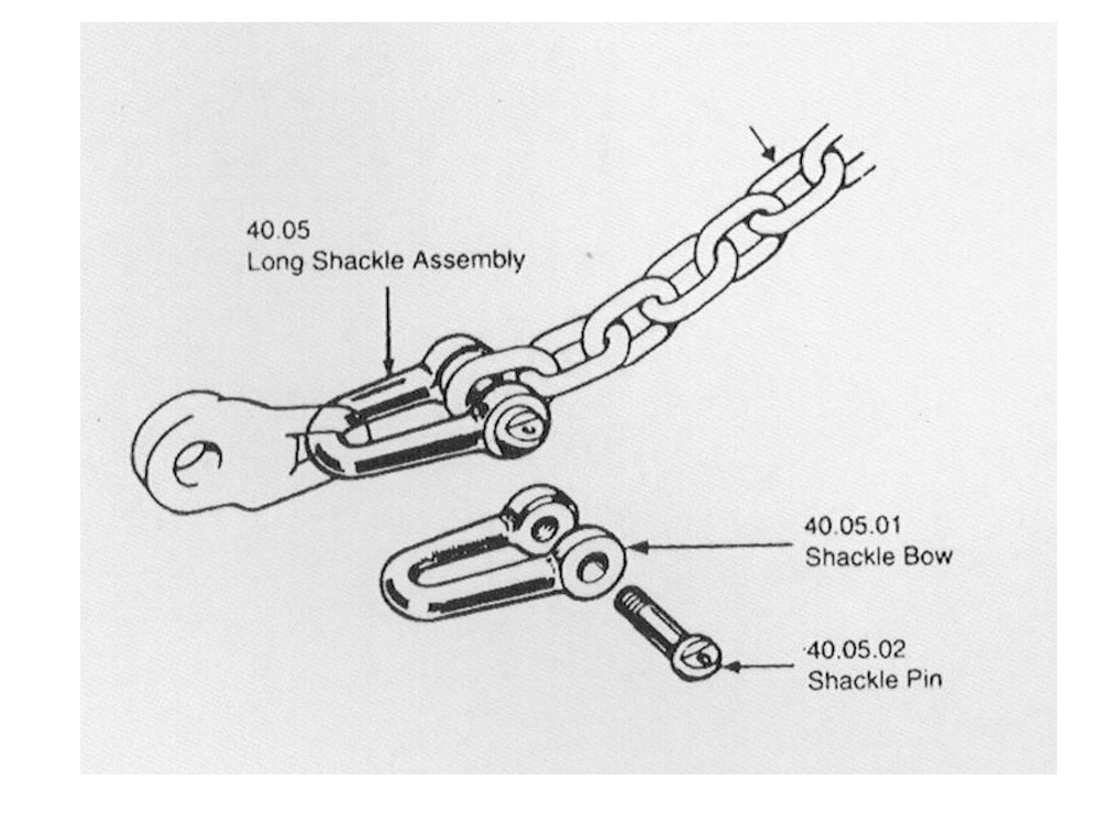 40.05/40.06/40.07/40.08 Short/Long Shackle Assembly