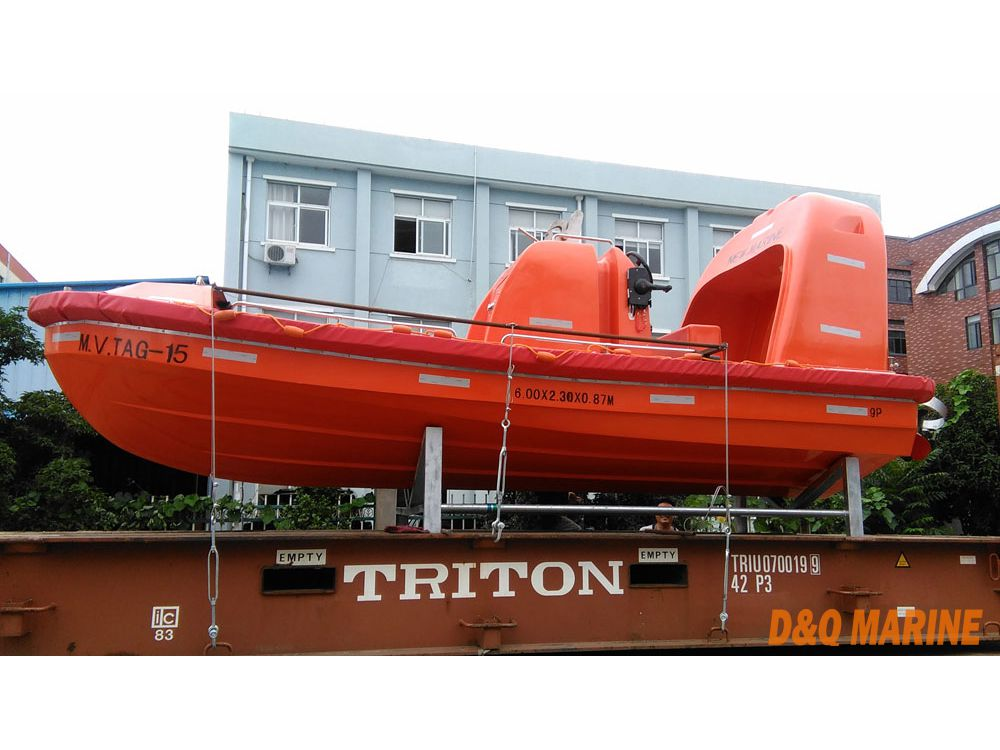 15 Persons 6 Meter High Speed Fast Rescue Boat