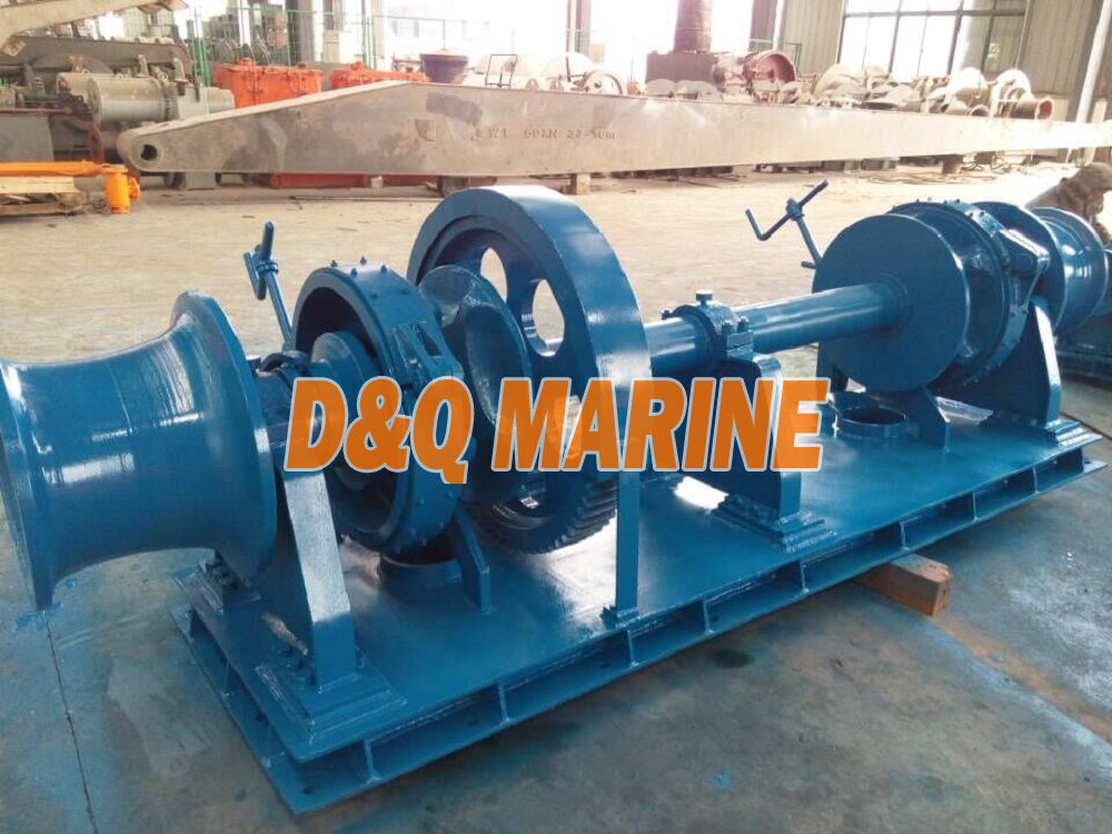 Hydraulic double gypsy windlass for 36mm chain