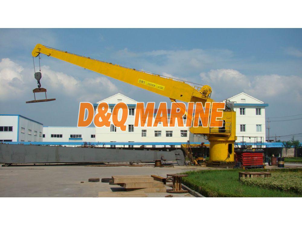 Hydraulic slewing crane