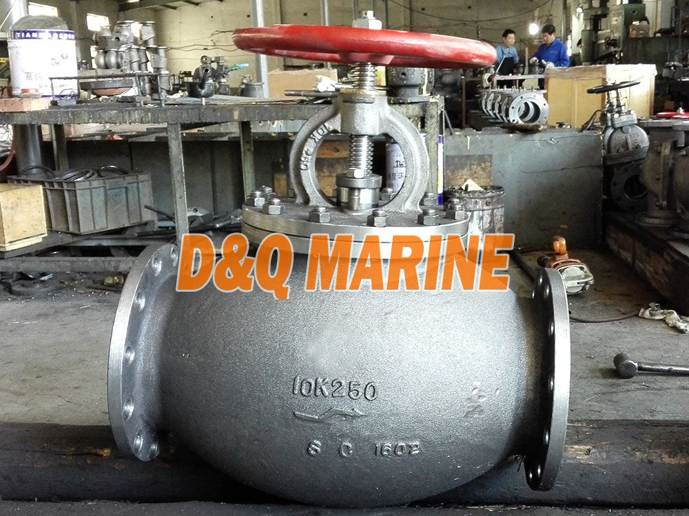 Marine Cast Steel 10K Screw Down Check Globe Valve JIS F7471