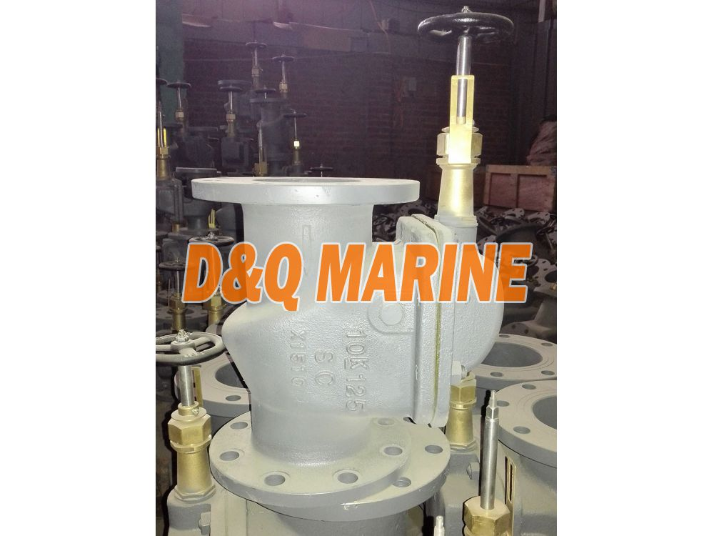 Marine Cast Steel 10K Screw Down Vertical Storm Valve