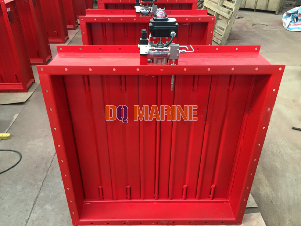 Pneumatic Rectangular Fire Damper