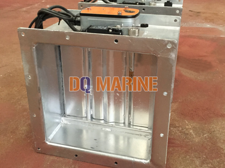 Rectangular Electric Galvanized Fire Damper