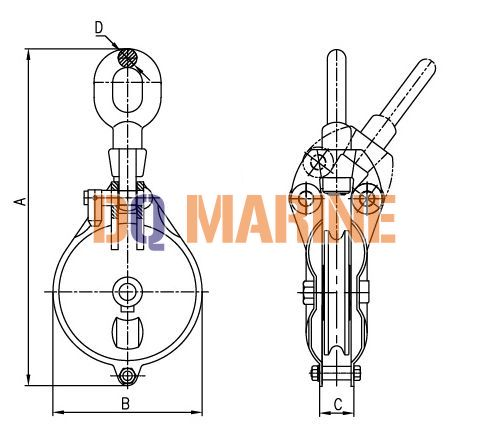 YB0 Series Marine Shackle Wire Rope Block
