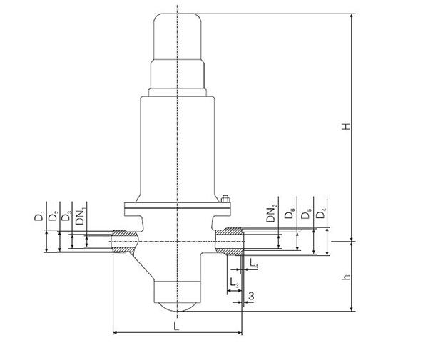 Marine Thread Air Pressure Reducing Valve CB/T3656-94