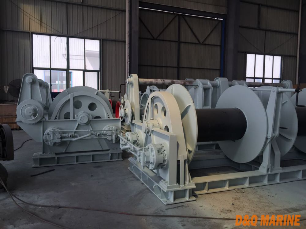 Diesel engine driven mooring winch