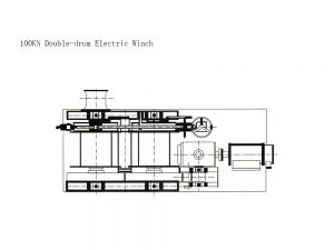 100KN Double-drum Electric Winch
