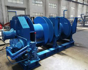 30T Hydraulic Double-drum Mooring Winch